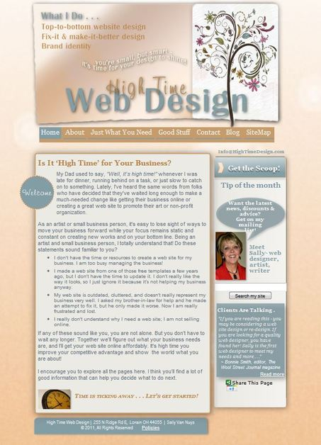 A great web design by High Time Web Design, Cleveland, OH: