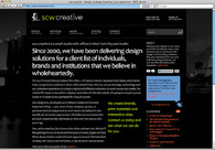 A great web design by scw creative, New York, NY: