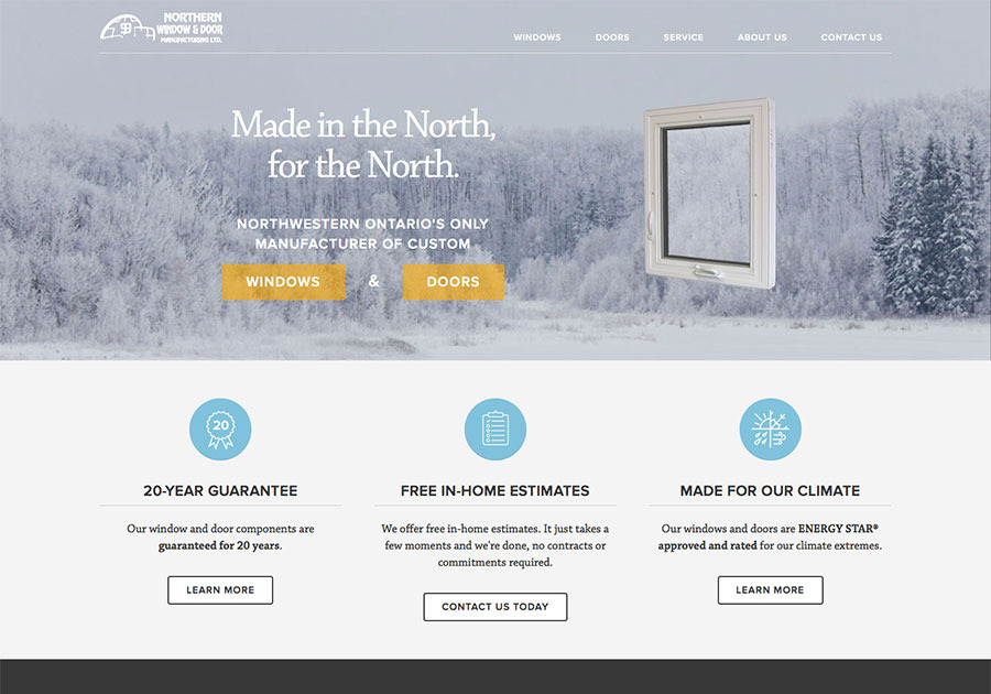 A great web design by eleven-seventeen, Thunder Bay, Canada: Responsive Website, Marketing Website , Construction , Static HTML