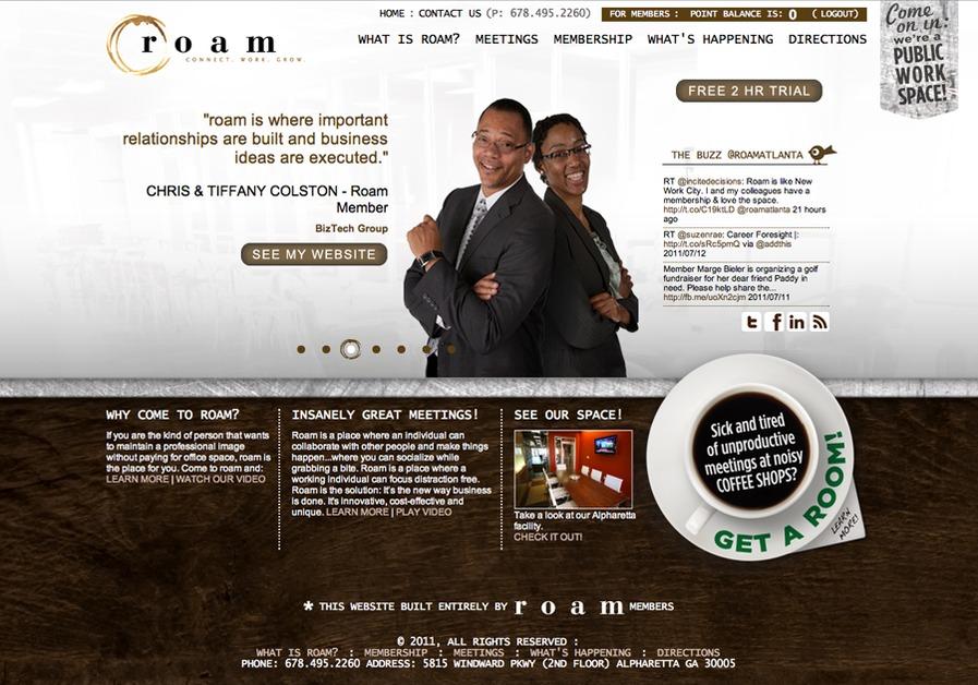 A great web design by Zero-G Creative, Atlanta, GA: