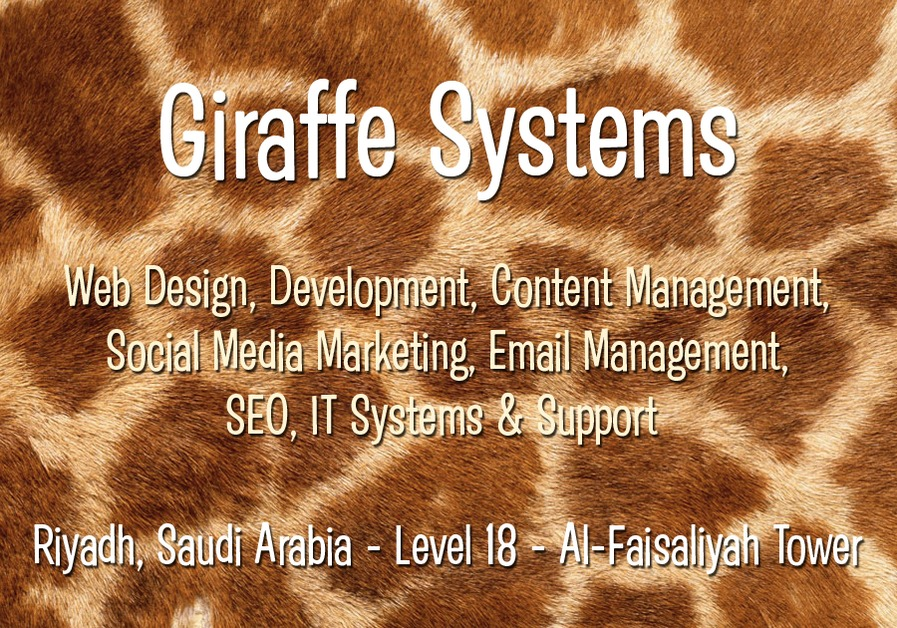 A great web design by Giraffe Systems, Riyadh, Saudi Arabia: