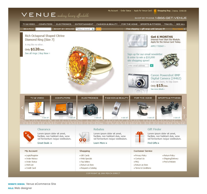 A great web design by Eva Britt Design, Seattle, WA: