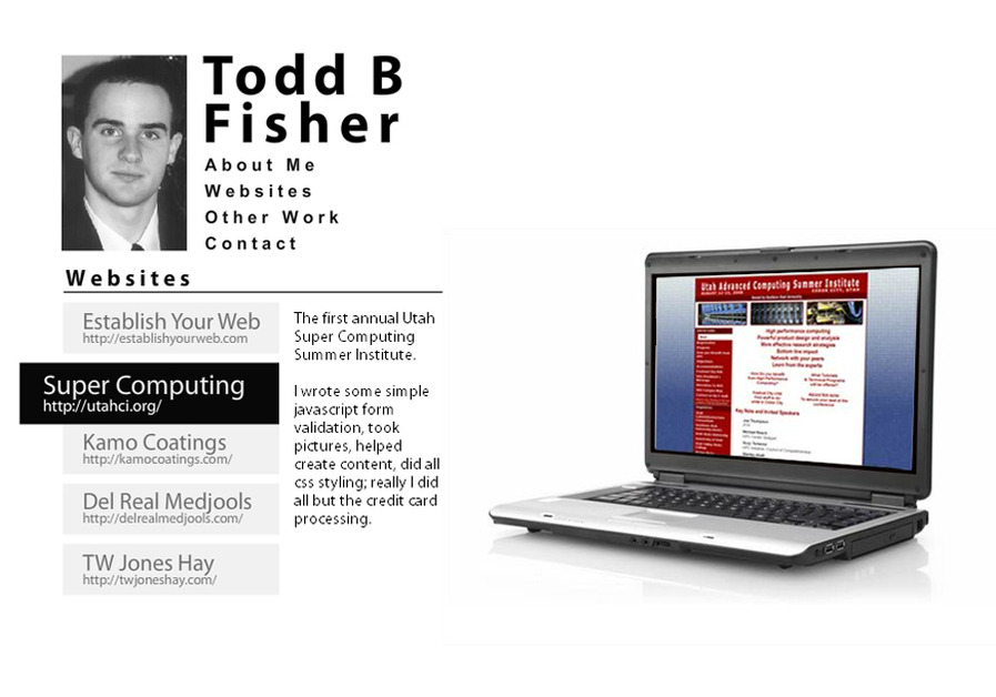 A great web design by Todd B Fisher, St George, UT: