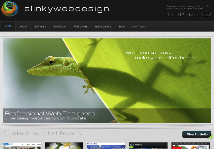 A great web design by Slinky Web Design, Perth, Australia: