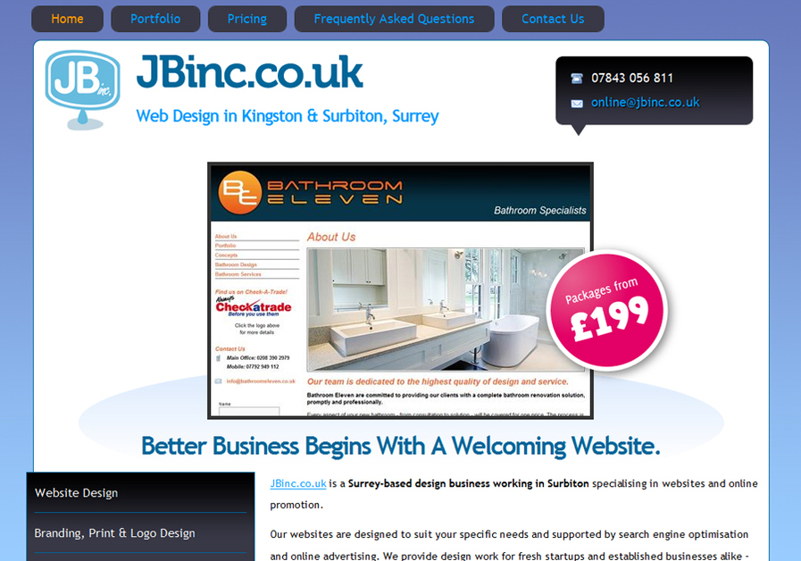 A great web design by JBinc Web Design, Surbiton, London, United Kingdom: