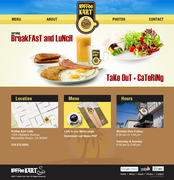 A great web design by Jeff Byer, Los Angeles, CA: