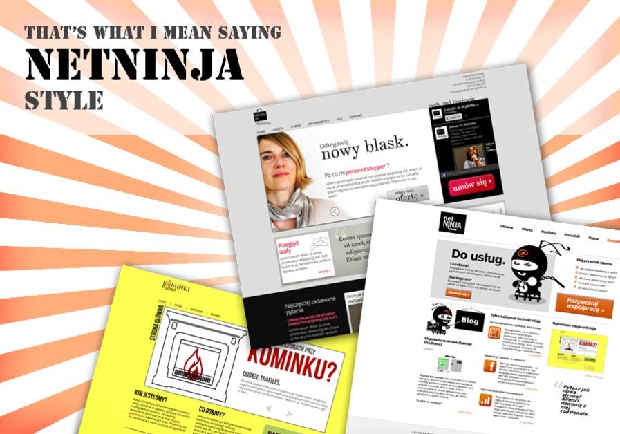 A great web design by NetNinja, Poznan, Poland: