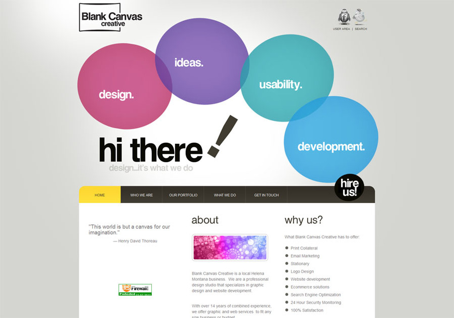 A great web design by Blank Canvas Creative, Helena, MT: