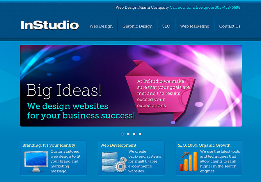 A great web design by InStudio, Miami, FL: