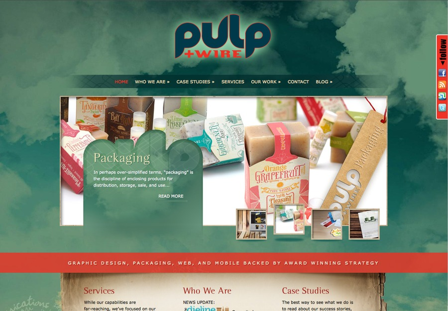 A great web design by Pulp+Wire, Portland, ME: