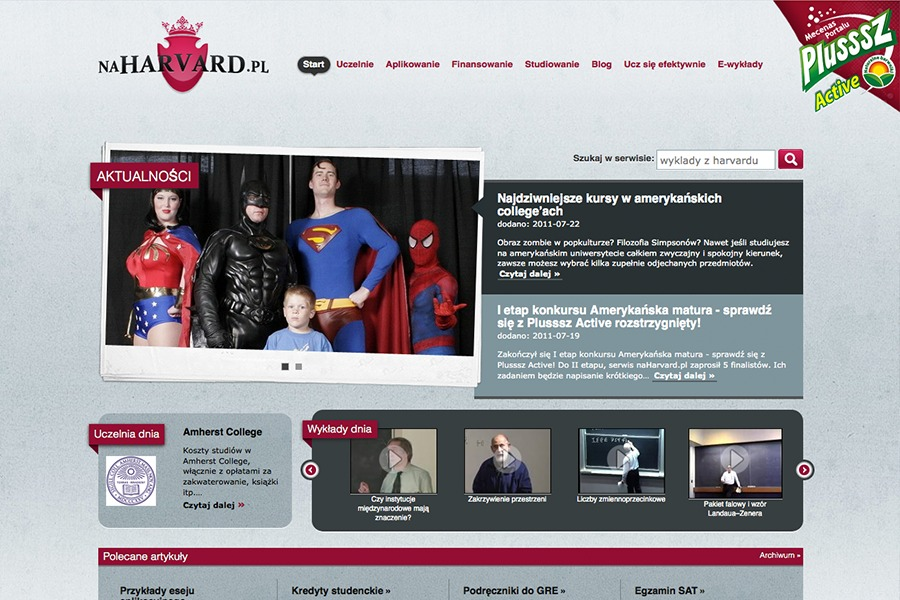 A great web design by Zapalka Interactive Agency, Warsaw, Poland: