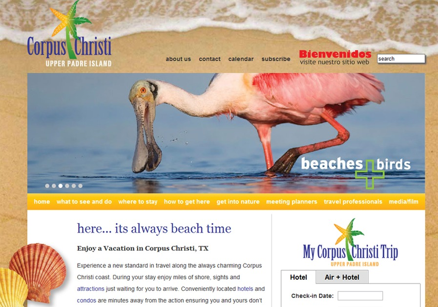 A great web design by Ensemble Group, Corpus Christi, TX: