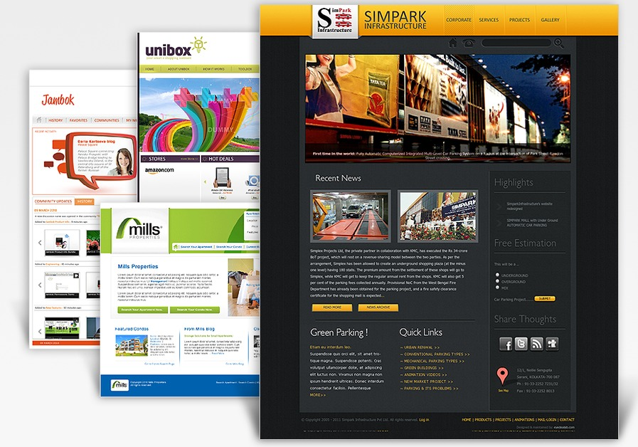 A great web design by Eyedea Lab, Kolkata, India: