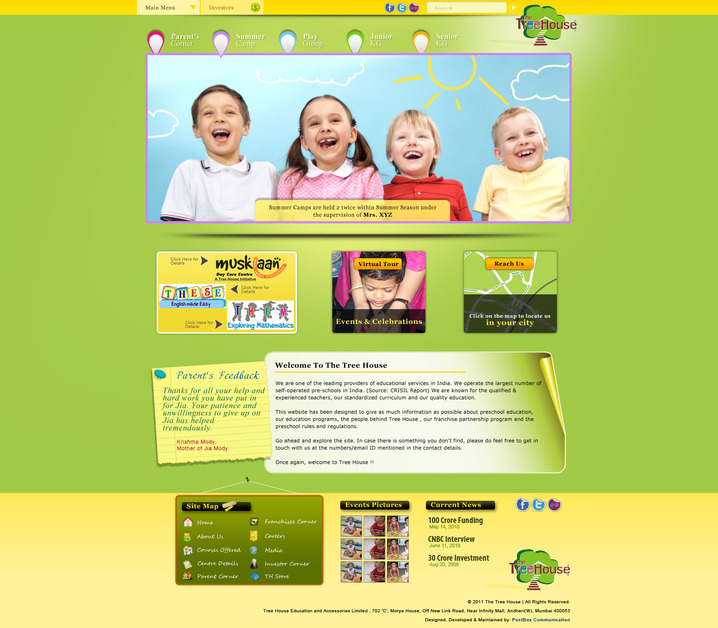 A great web design by PostBox Communications, Mumbai, India: