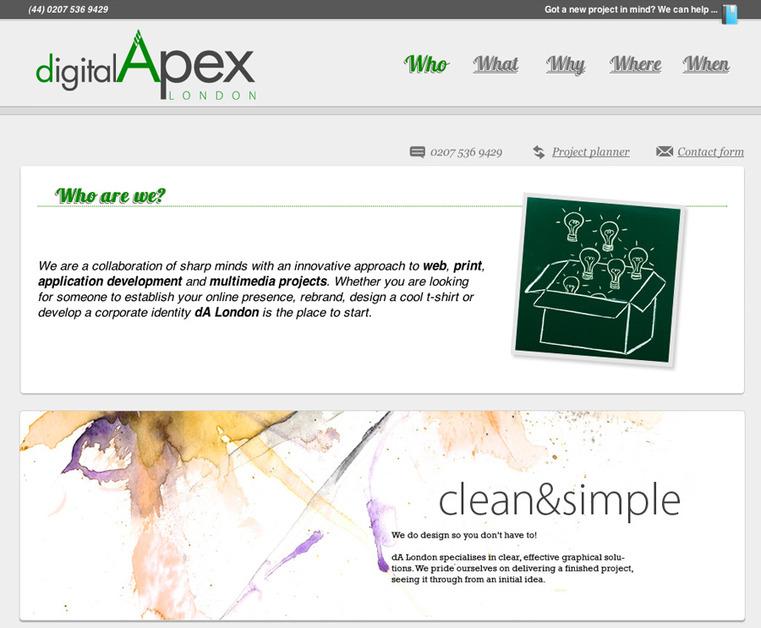A great web design by dA London, London, United Kingdom: