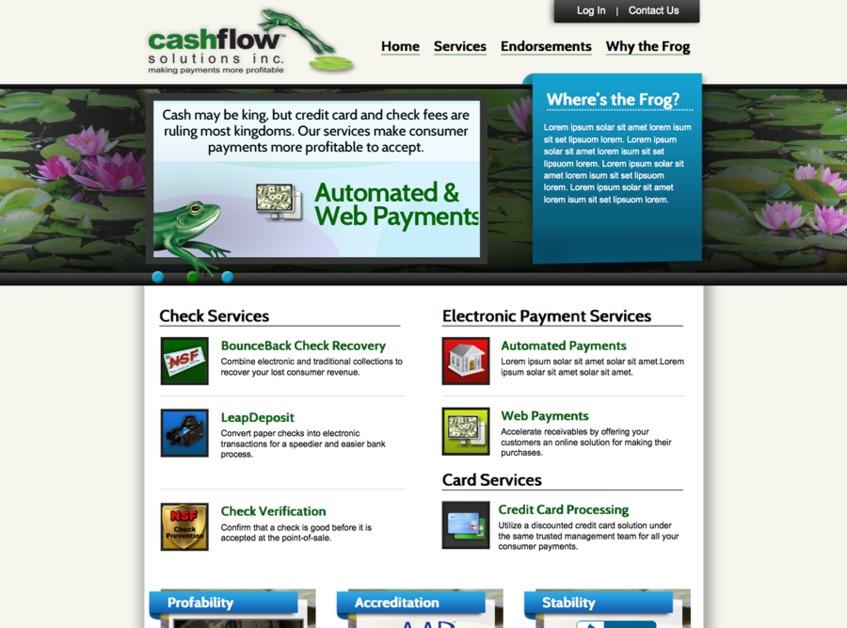 A great web design by JibDesigns, Cincinnati, OH: