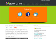 A great web design by Designs With Flair, Newcastle, United Kingdom: