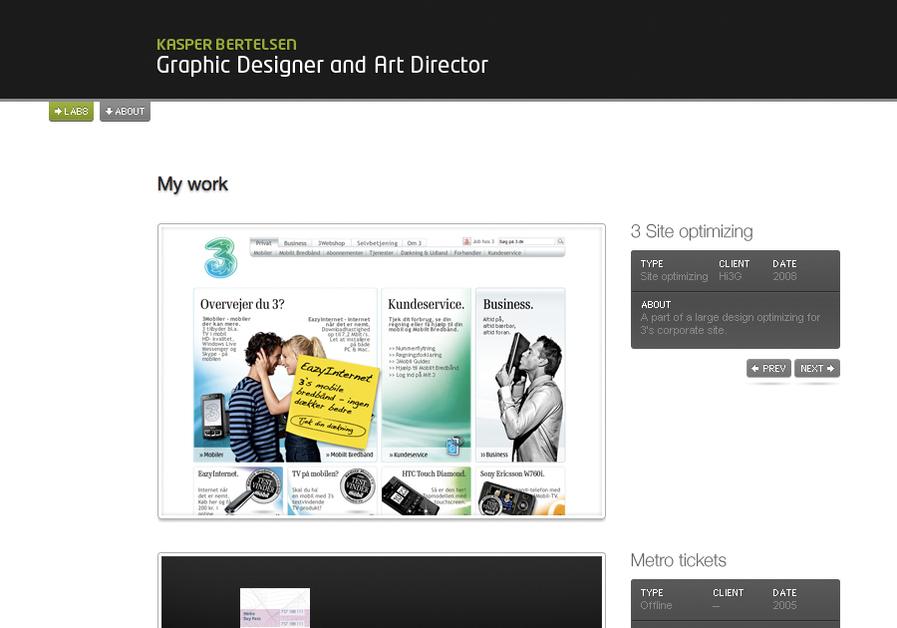 A great web design by Lab8, Copenhagen, Denmark: