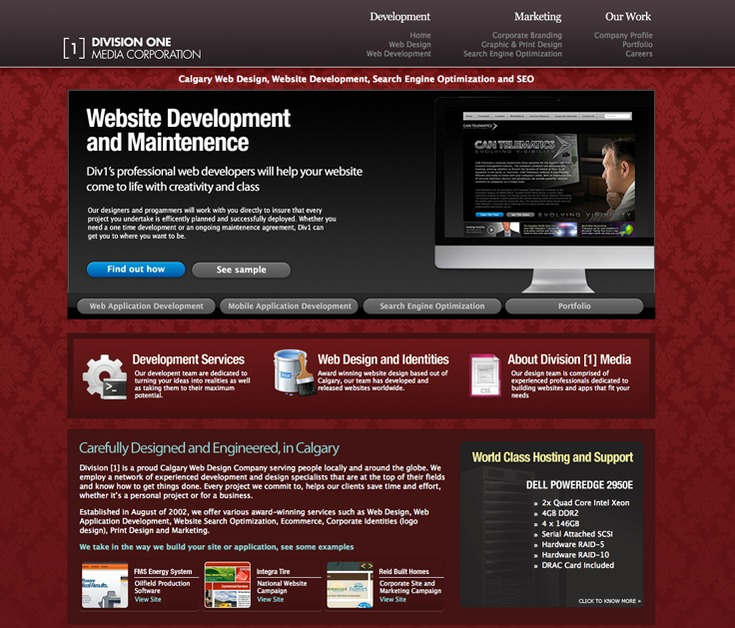 A great web design by Division [1], Calgary, Canada: