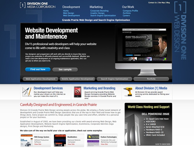 A great web design by Division [1], Grande Prairie, Canada: