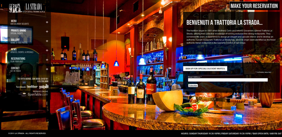 A great web design by Vincent Valentino, San Diego, CA: