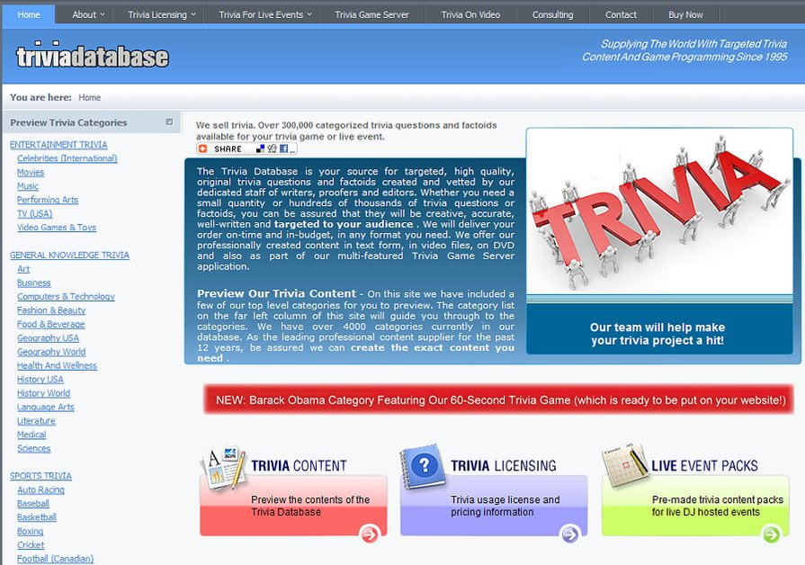 A great web design by Web Marketing Services, Inc., Miami, FL:
