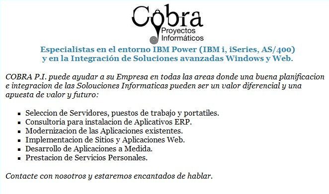 A great web design by COBRA Proyectos Informaticos, Madrid, Spain: