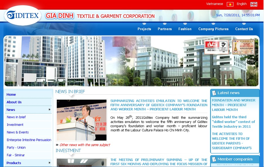 A great web design by Bao Tin Design, Ho Chi Minh City, Viet Nam: