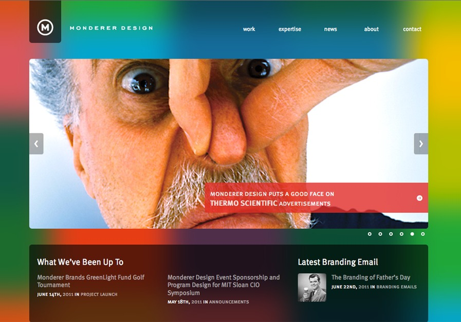 A great web design by Monderer Design, Boston, MA:
