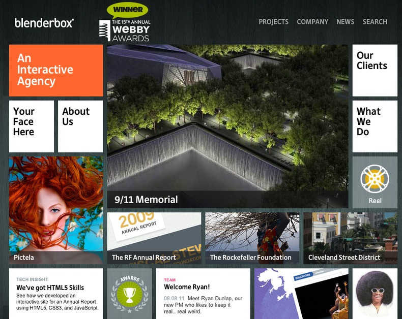 A great web design by Blenderbox, New York, NY: