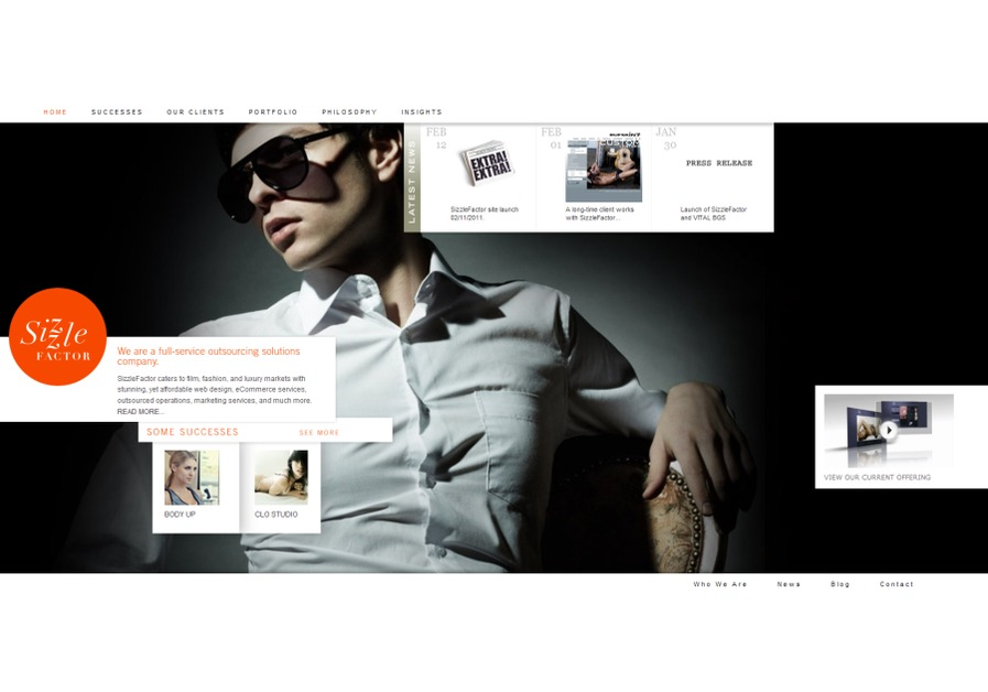 A great web design by Sizzle Factor, New York, NY:
