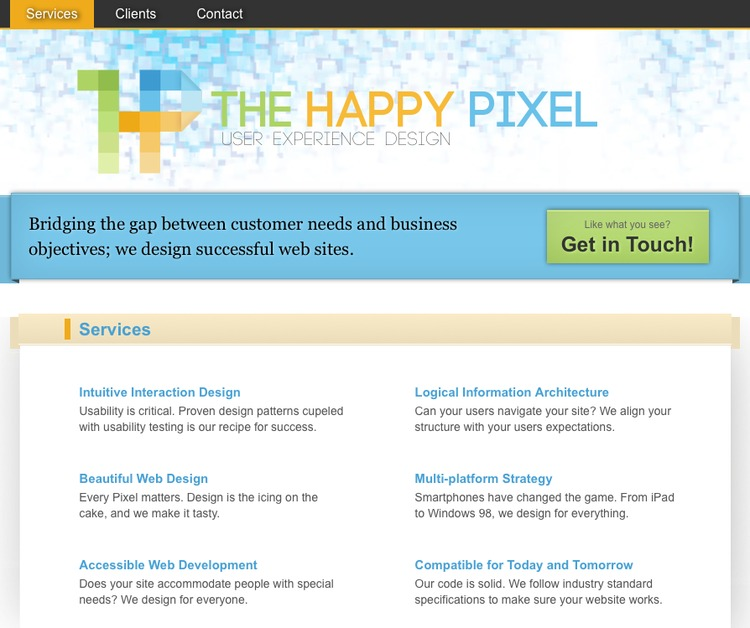 A great web design by The Happy Pixel, Winnipeg, Canada: