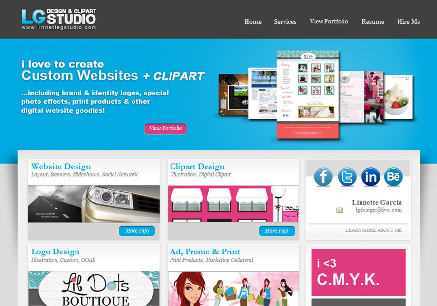 A great web design by LG Design & Clipart Studio, Central Florida, FL: