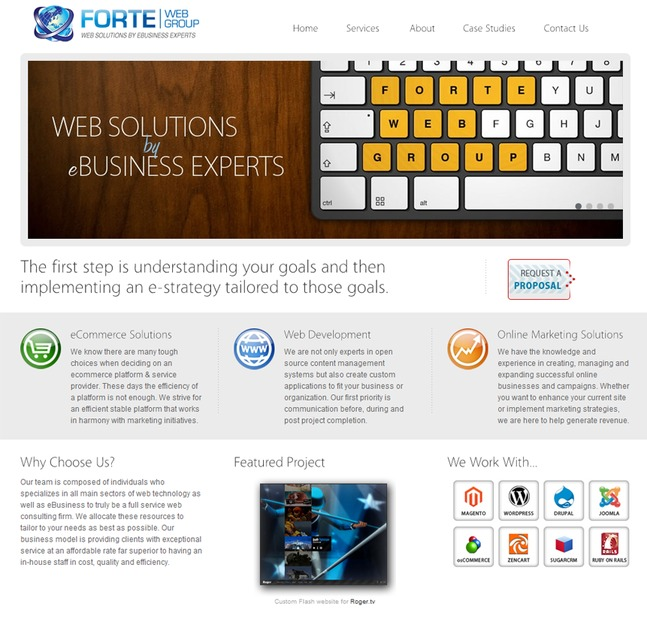 A great web design by Forte Web Group, LLC, Los Angeles, CA: