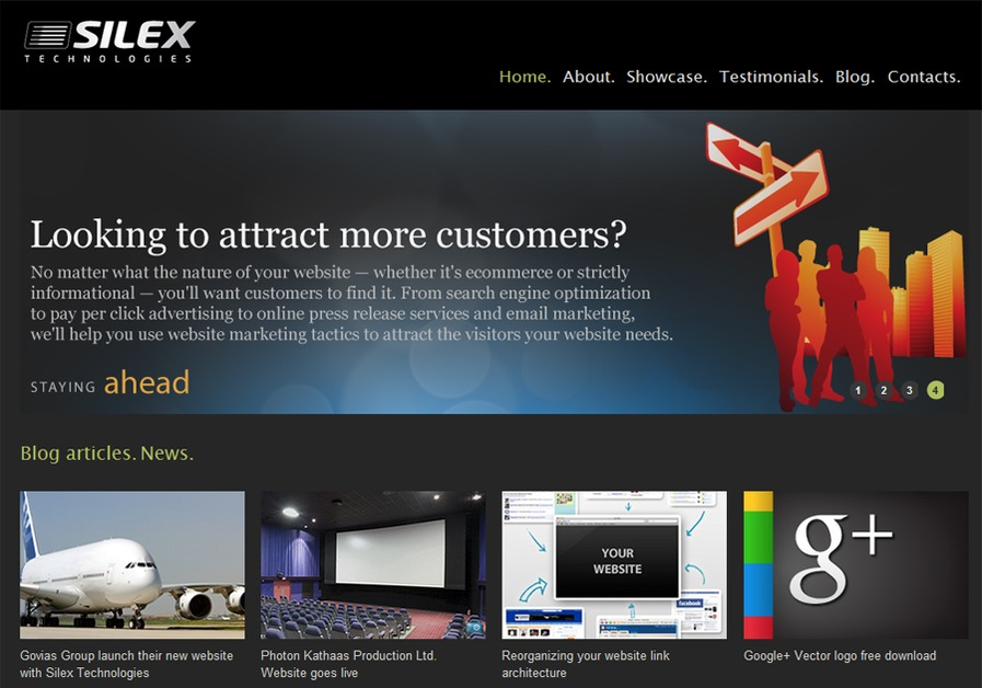 A great web design by Silex Technologies, Chennai, India, Chennai, India: