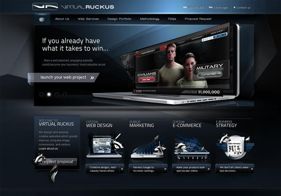 A great web design by Virtual Ruckus LLC, Washington DC, DC: