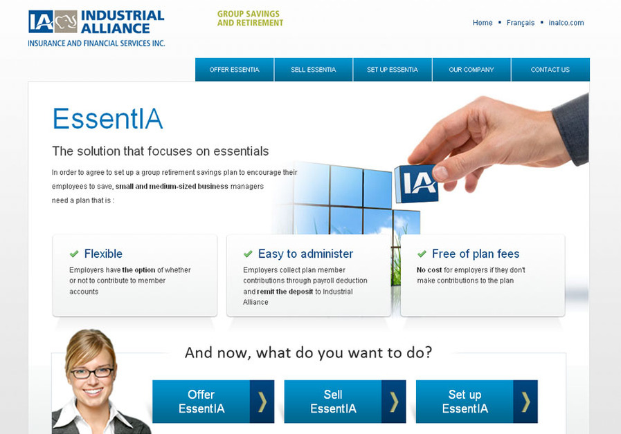 A great web design by CMPmedia, Quebec, Canada: