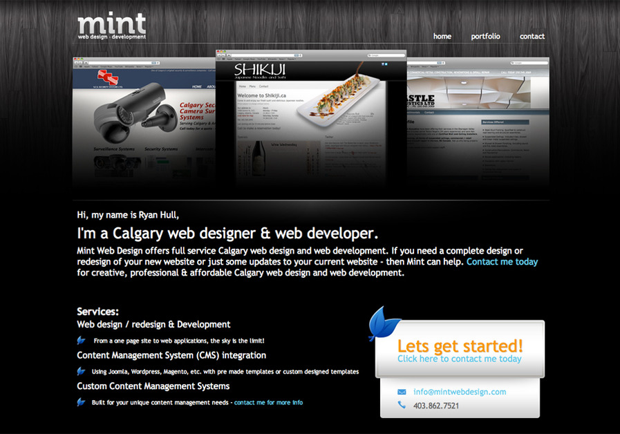 A great web design by Mint Web Design, Calgary, Canada: