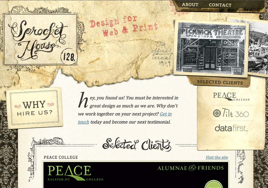 A great web design by Sprocket House, Chapel Hill, NC: