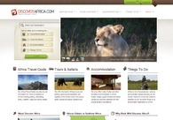 A great web design by Discover Africa, Cape Town, South Africa: