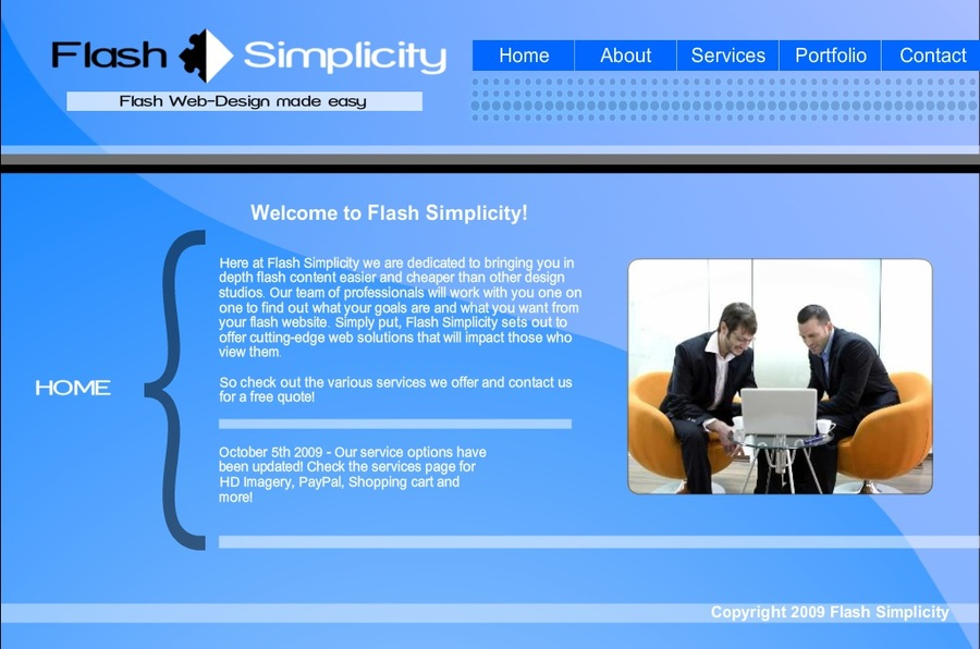 A great web design by Flash Simplicity, Atlanta, GA: