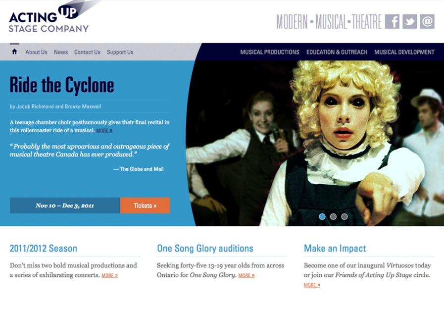 A great web design by Array Design, Toronto, Canada: