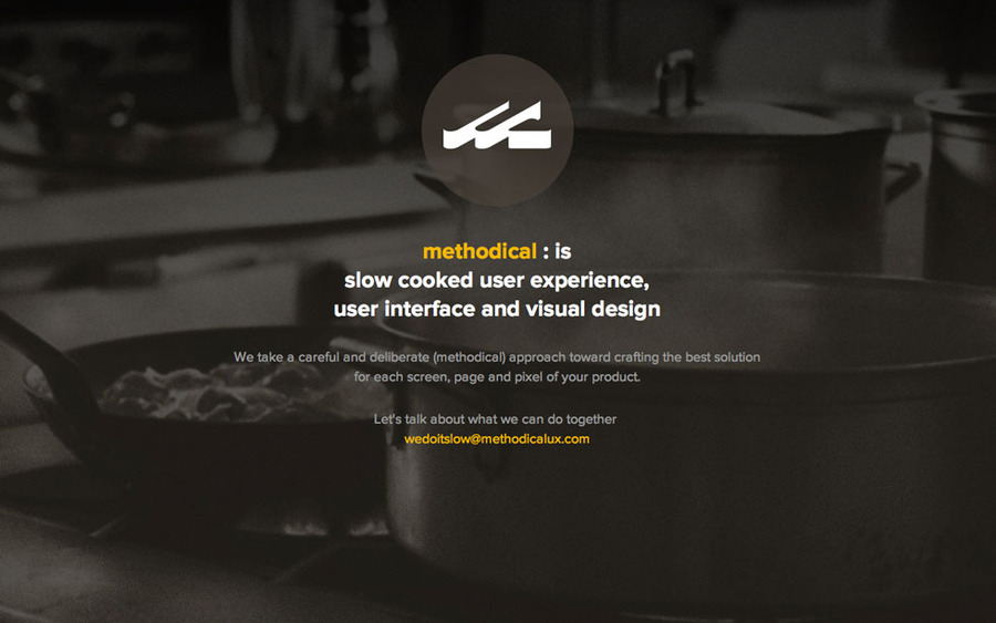 A great web design by methodical, San Francisco, CA: