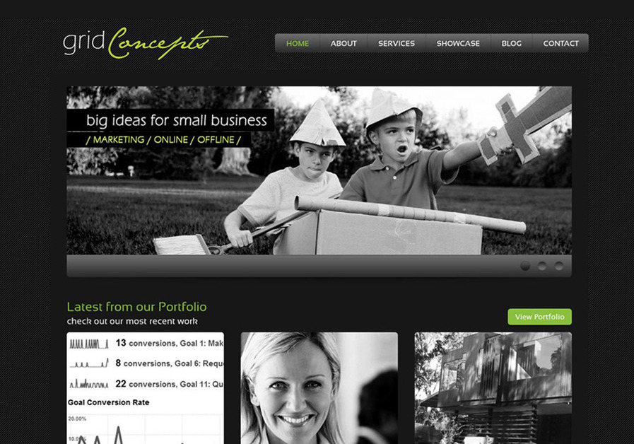 A great web design by Grid Concepts, Brighton Melbourne, Australia: