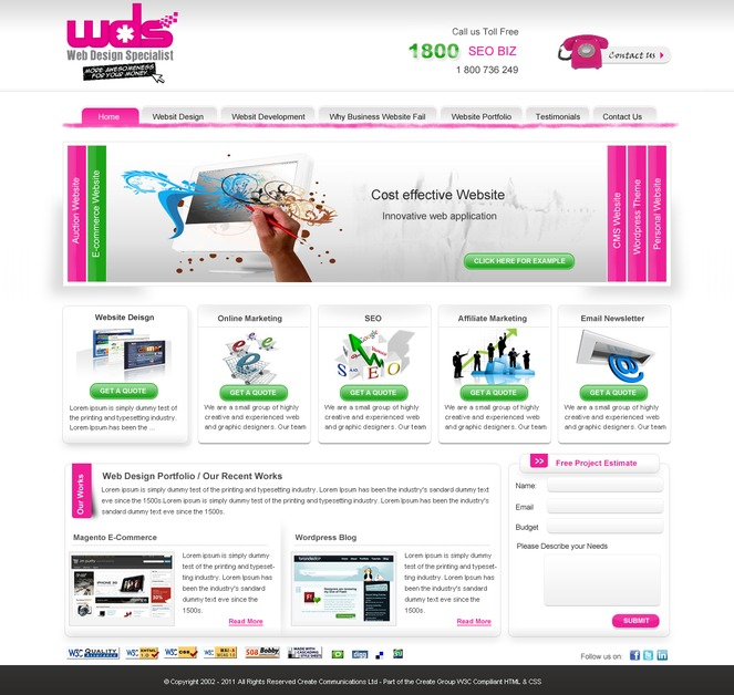 A great web design by Web Design Specialist Australia, Melbourne, Australia: