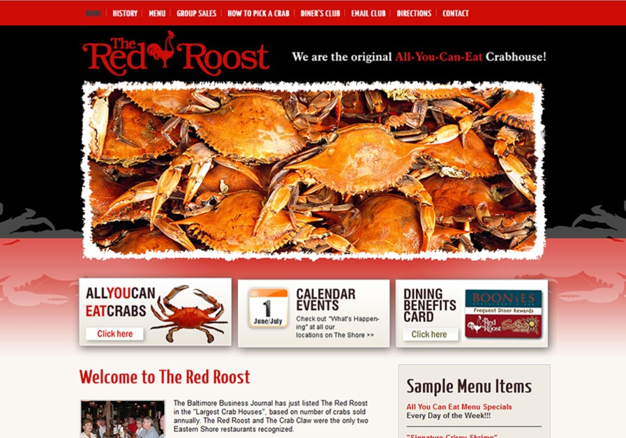 A great web design by Matice Interactive, Salisbury, MD: