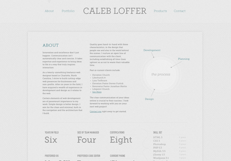 A great web design by Caleb Loffer, Charlotte, NC: