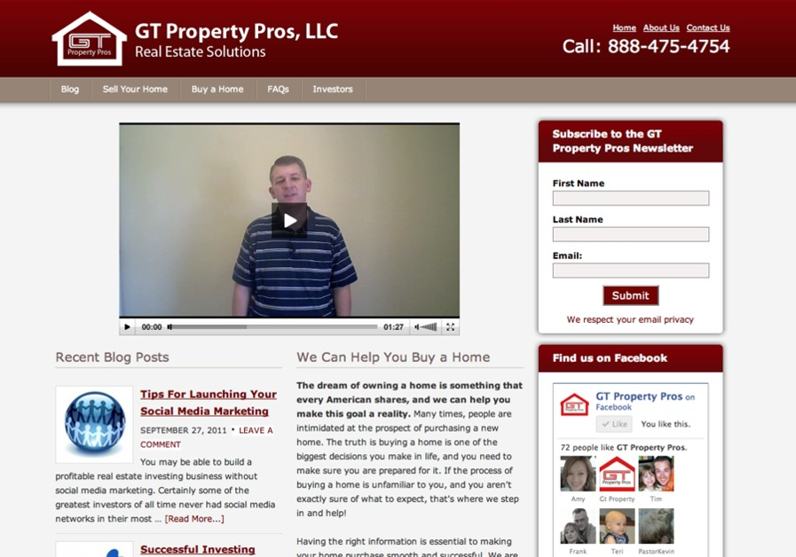 A great web design by Gaston Media Solutions, Tampa, FL: