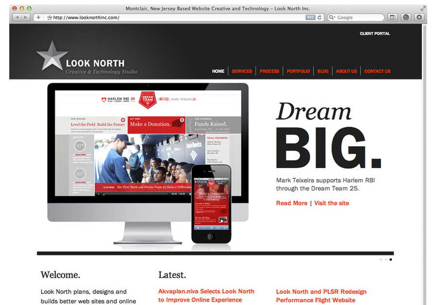 A great web design by Look North Inc., New York, NY: