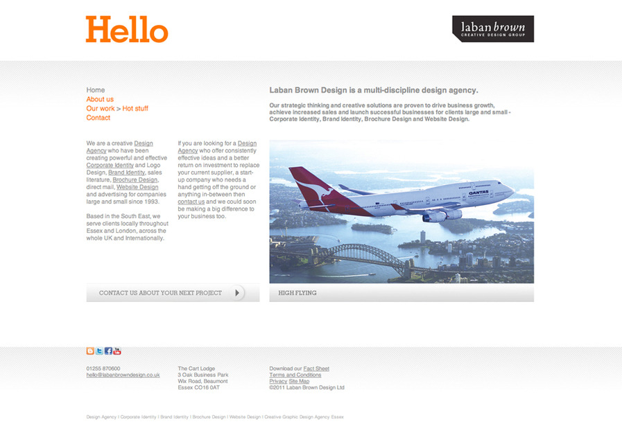 A great web design by Laban Brown Design, London, United Kingdom: